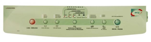 Adesivo Painel Advanced Wash Lavadora Brastemp Bwf08a